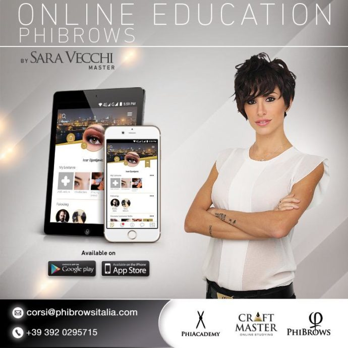 Corso PhiBrows Italia - On Line Education con Master Sara Vecchi